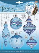 """Наклейки для интерьера Room Decoration """"Новогодние игрушки"""", объемные,..."""