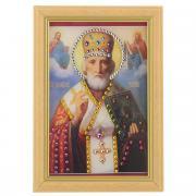 """Картина с кристаллами Swarovski """"Икона. Николай Чудотворец"""", 12 х 17..."""