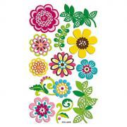"Набор 3D наклеек ""Весенний. Цветы"", 12 шт"