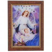"Картина с кристаллами Swarovski ""Ангел-защитник"", 12,5 см х 17 см"