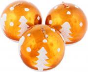"""Набор свечей Winter Wings """"Шар"""", цвет: оранжевый, диаметр 5 см, 3 шт"""