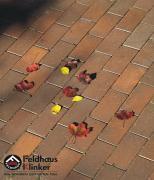 Тротуарная плитка (Брусчатка) P403 Gala flamea Feldhaus Klinker