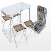 Nika Набор стол пластиковая столешница 4 стула ССТ-K2