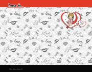 Подкладка на стол ACTION! LOVE IS, ПВХ с заварным рисунком, A4+