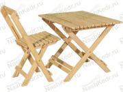 Комлпект складной КМС 80 (стол + 4 стула), лиственница
