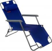 """Кресло складное Woodland """"Lounger Oxford"""", цвет: синий, серый, 153 см..."""