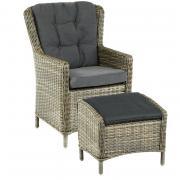 Садовое кресло Azzura 4600-7-74 Плетеное кресло Marina Светло-серый...