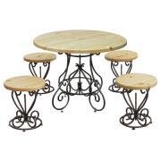 Комплект садовой мебели МФДМ Магнолия-K1 (лак) Массив сосны (лак)