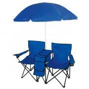 Набор складных кресел с зонтом IRIT, цвет: синий, 2 шт. IRG-522