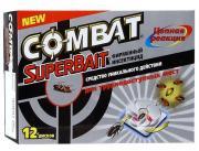 """Ловушки для тараканов Combat """"Super Bait"""", с инсектицидом, 12 шт"""