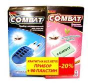 """Фумигатор для пластин """"Combat"""" + пластины от комаров """"Combat"""", с..."""
