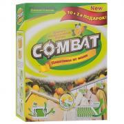 """Пластины от моли """"Combat"""", с ароматом апельсинового дерева, 10 шт + 2..."""