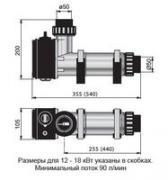 Электрический нагреватель для бассейна PAHLEN пластик 3 кВт с...