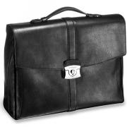 181202 Черный портфель S.T, Dupont Soft Diamond с 2 отделениями