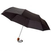 Зонт мужской складной Oliviero, 3 сложения, черный