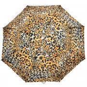 """Зонт женский """"Pasotti"""", автомат, 3 сложения, леопардовый"""