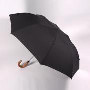 Аксессуары Zest мужской зонт черный (2 сложения)