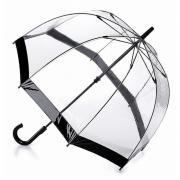 Аксессуары Fulton прозрачный зонт-трость (черный кант)