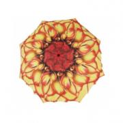 Зонт цветок пион желто-красный galleria