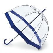 Аксессуары Fulton прозрачный зонт-трость (синий кант)