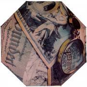 """Зонт женский Flioraj """"Банкноты"""", механический, 5 сложений, коричневый,..."""