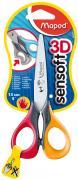 """Ножницы детские """"Sensoft"""", для левшей, 13 см, цвет красный, желтый"""