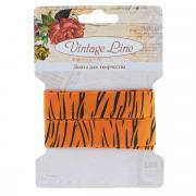 "Лента декоративная ""Vintage Line"", цвет: оранжевый, ширина 1,6 см,..."