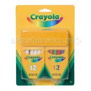 Мелки Crayola Набор из 12 белых и 12 цветных мелков