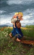 Milena Style Набор для вышивания Дети, бегущие от грозы (по картине...