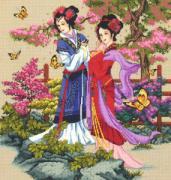 Kustom Krafts Набор для вышивания крестом Азиатские красавицы 98477