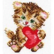 Набор для творчества АЛИСА Любимая киска для вышивания 0-61