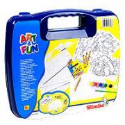 """Simba Набор для раскрашивания """"Art & Fun"""" в чемоданчике, цвет: синий"""