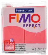 """Полимерная глина Fimo """"Effect"""", цвет: полупрозрачный красный, 56 г"""