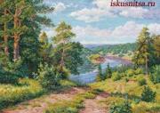 Алиса Набор для вышивания крестиком Над рекой 3-13