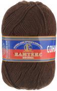 """Пряжа для вязания Камтекс """"Соната"""", цвет: коричневый, 250 м, 100 г, 10..."""