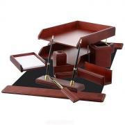 """Набор настольный """"GS Artek"""", 9 предметов, цвет: красное дерево"""