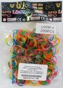 Набор резинок для плетения Разноцветные 200 шт. RZ-17 Molly