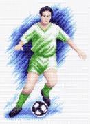 """Канва с рисунком для вышивания """"Футболист"""", 22 см х 26 см"""