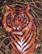 "Канва с рисунком для вышивания ""Тигр"", 28 х 34 см 99"