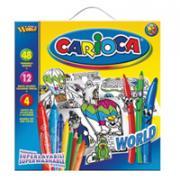 """Набор для рисования """"Carioca World"""", 64 предмета"""