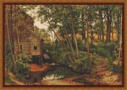 Luca-S Набор для вышивания Пейзаж. Мельница в лесу., по картине И.И....