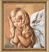 """Набор для вышивания гобеленовым швом Гобелен Классик """"Ангел 4"""", 24 х..."""