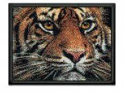 """Пиксельная мозаика серии Арт """"Тигр"""" из 10800 элементов."""