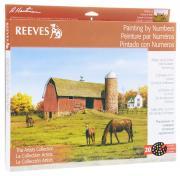 Reeves Набор для рисования по номерам Лошадь и амбар