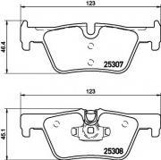 Задние колодки TEXTAR 2530701 подготовлено для датчика износа колодок