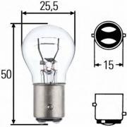 Лампа накаливания P21/5W 12V 21/5W BAY 15d HELLA 8GD002078121