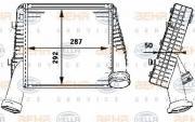Интеркулер - легковой автомобиль HELLA 8ML376723481