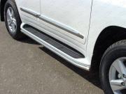 ТСС Защита порогов 42,4 мм для Lexus LX570 № LEXLX57012-02