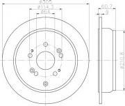 Задний тормозной диск TEXTAR 92162503