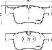 Передние колодки TEXTAR 2550601 подготовлено для датчика износа...